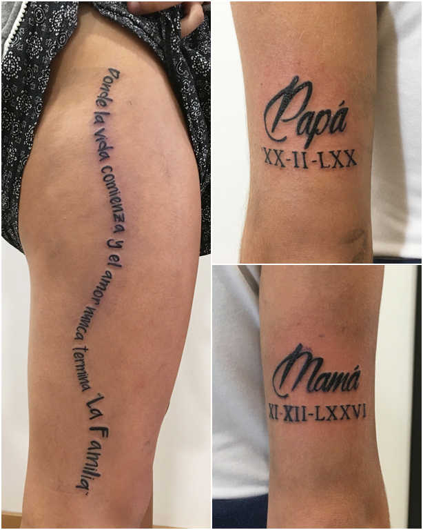 Tatuajes pequeños en Getafe - De Familia
