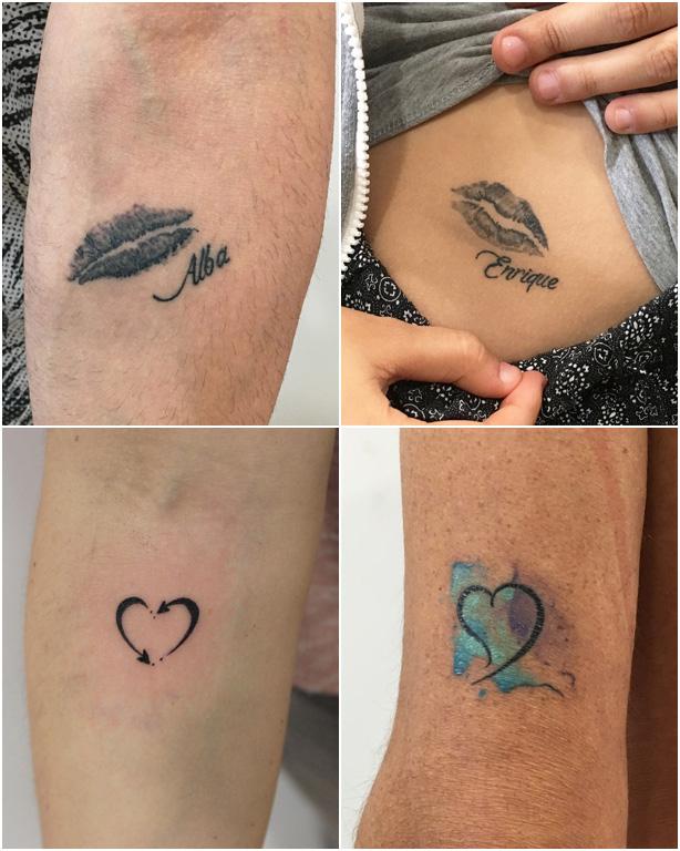 Tatuajes pequeños en Getafe - Labios y Corazones